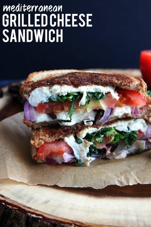 Mediterranean Grilled Cheese Sandwich 91