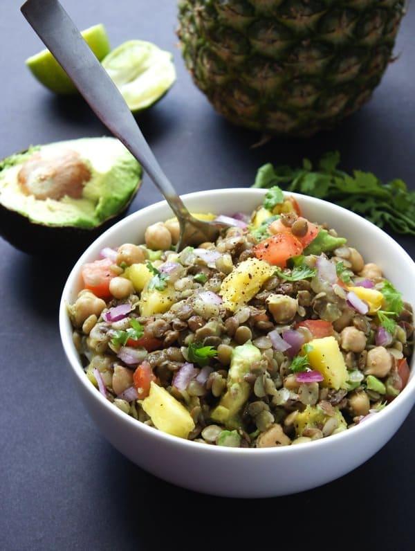 Pineapple Lentil Salad 4