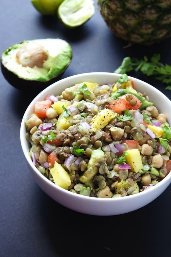 Pineapple Lentil Salad 6