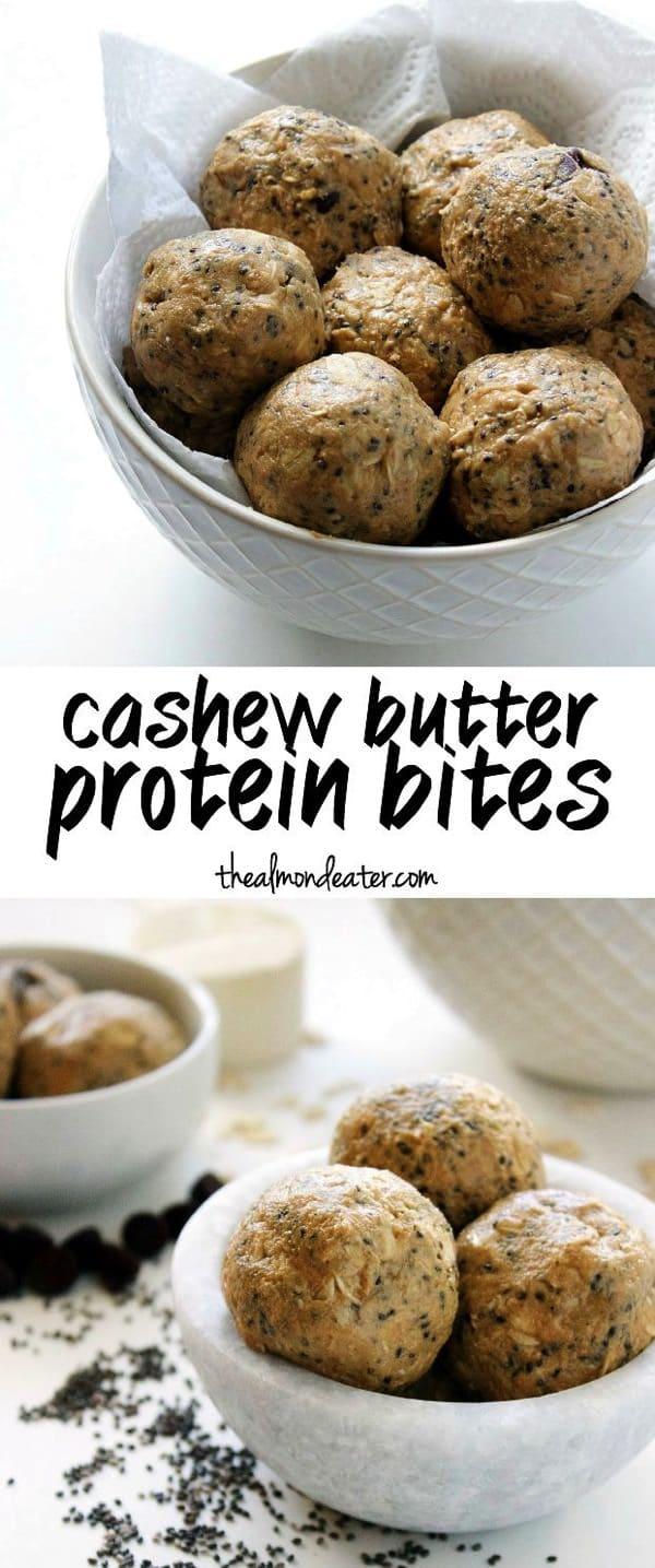 Cashew Butter Protein Bites