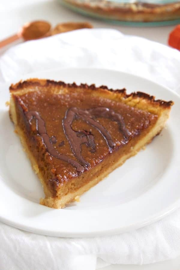 Paleo Chocolate Pumpkin Pie 4