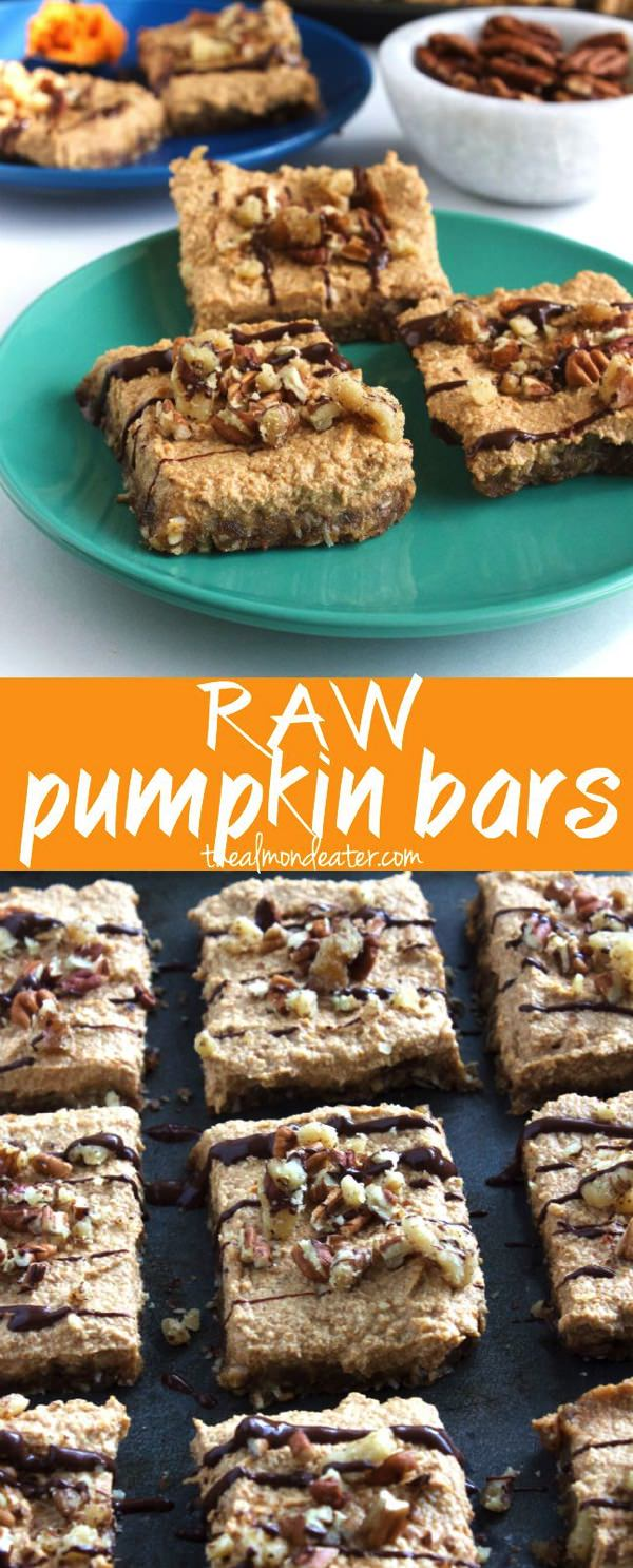 Raw Pumpkin Bars