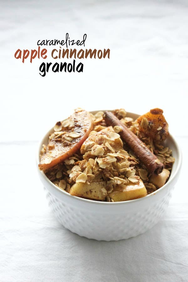 Step up your granola game with this Caramelized Apple Cinnamon Granola ...