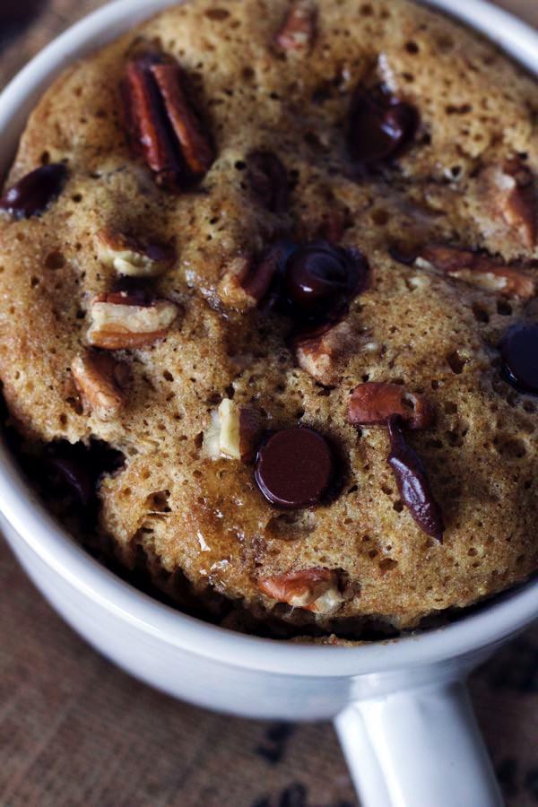 Chocolate Chip Pecan Mug Cake 9