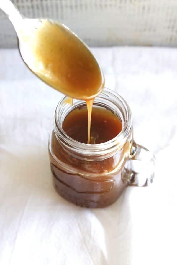 Healthier Salted Caramel Sauce 7