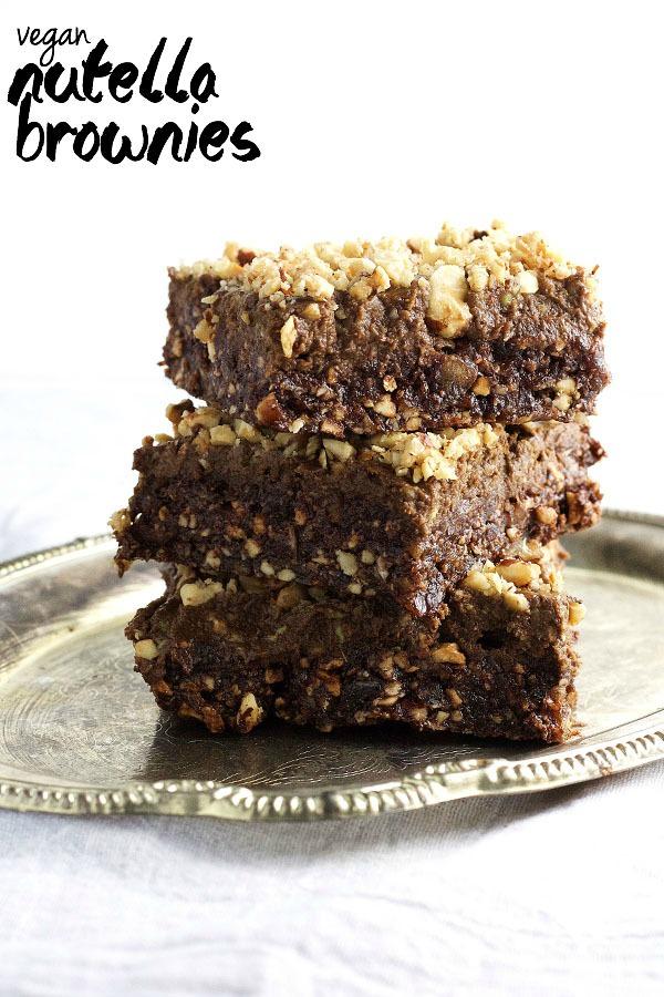 Vegan Nutella Brownies 9