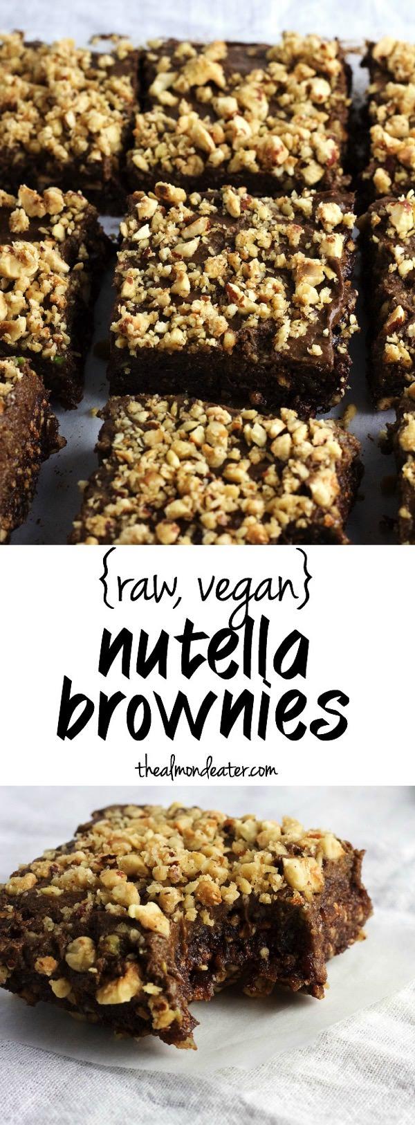 Vegan Nutella Brownies   Brownies with a secret ingredient that taste like Nutella