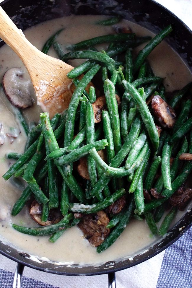 Healthy Green Bean Casserole with Cauliflower 1