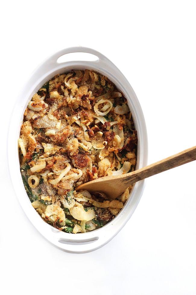 Healthy Green Bean Casserole with Cauliflower Sauce 11