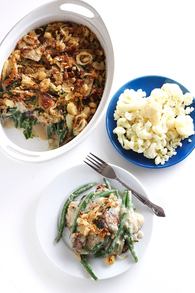 Healthy Green Bean Casserole with Cauliflower Sauce 19
