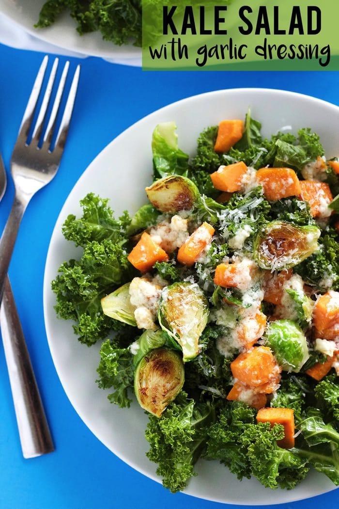 Kale Salad with Garlic Dressing 12