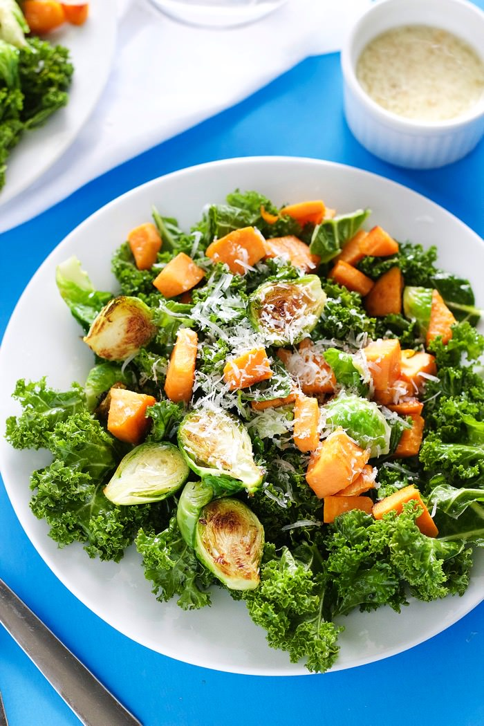 Kale Salad with Garlic Dressing 6