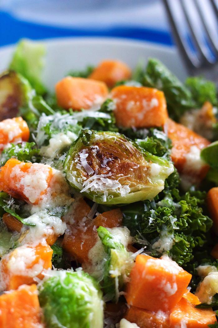 Kale Salad with Garlic Dressing 8
