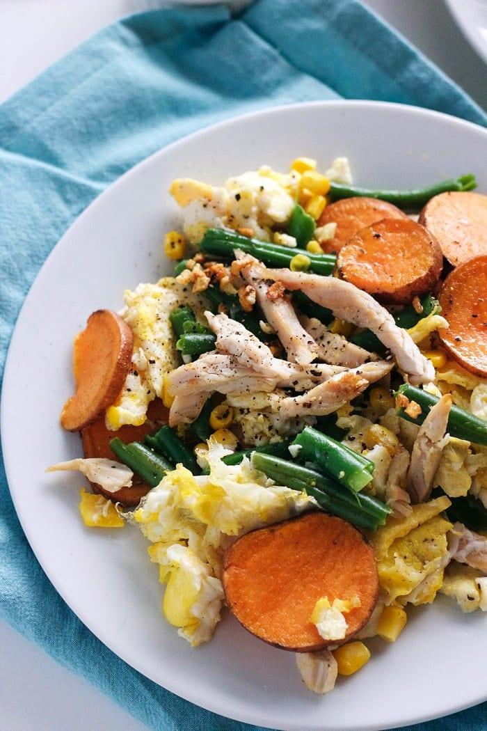 Leftover Thanksgiving Egg Scramble 4