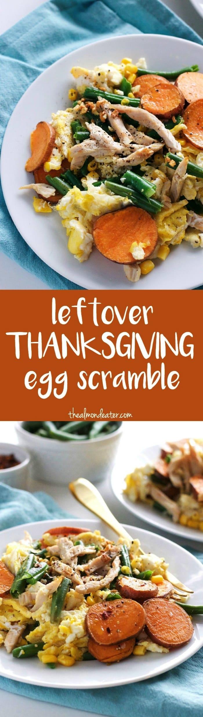 Leftover Thanksgiving Egg Scramble