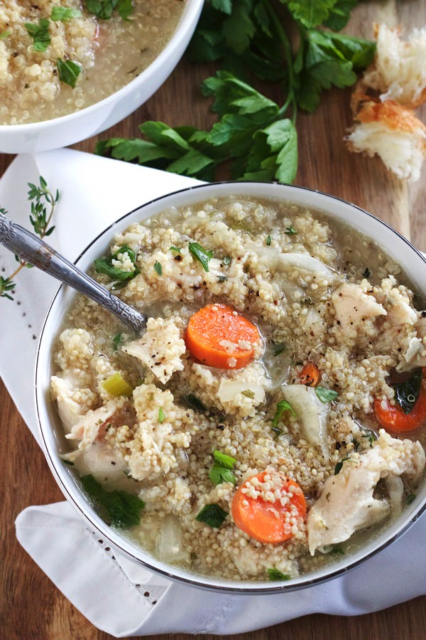 Slow Cooker Chicken Quinoa Soup 8