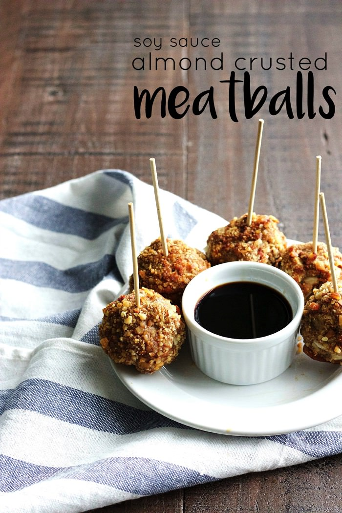 Soy Sauce Almond Crusted Meatballs 1