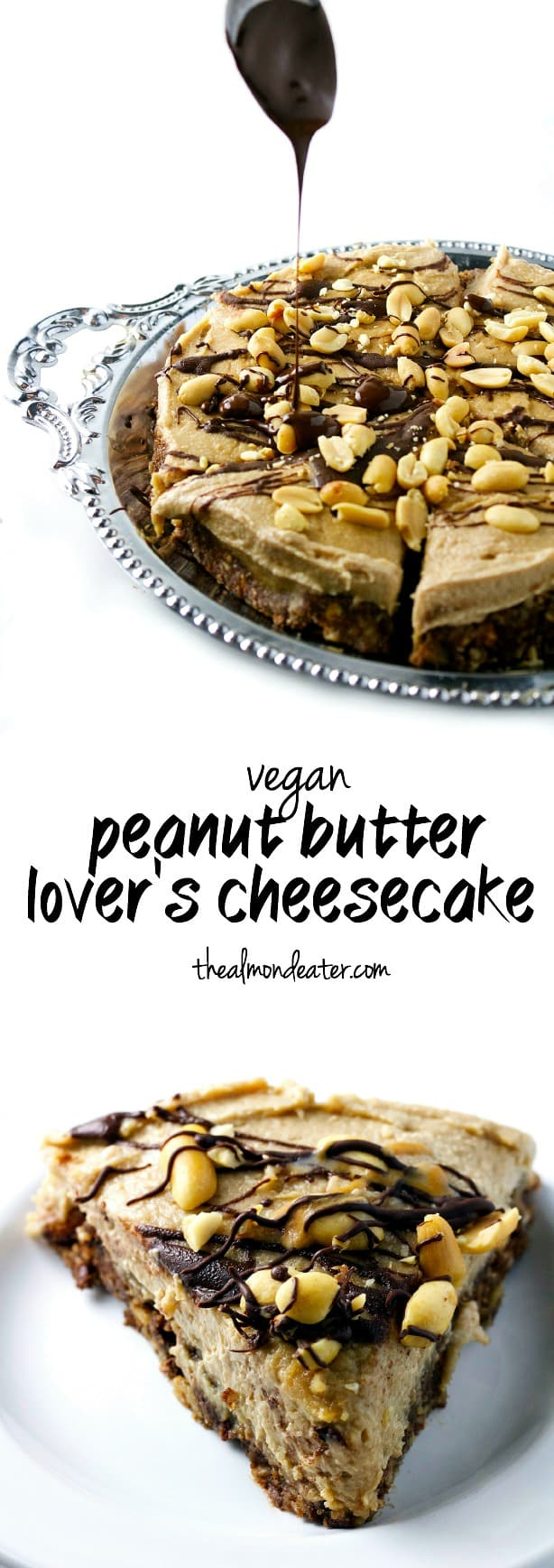Vegan Peanut Butter Lover's Cheesecake