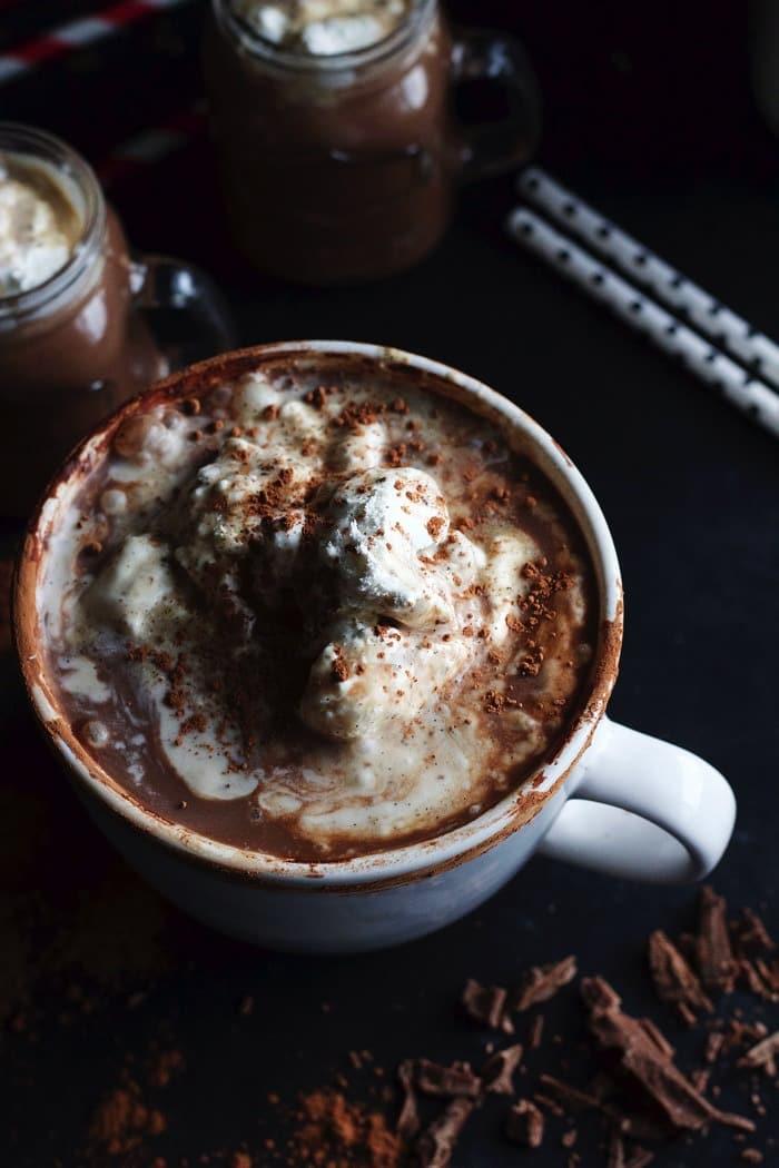 Boozy Hot Chocolate with Vanilla Bean Whipped Cream 10