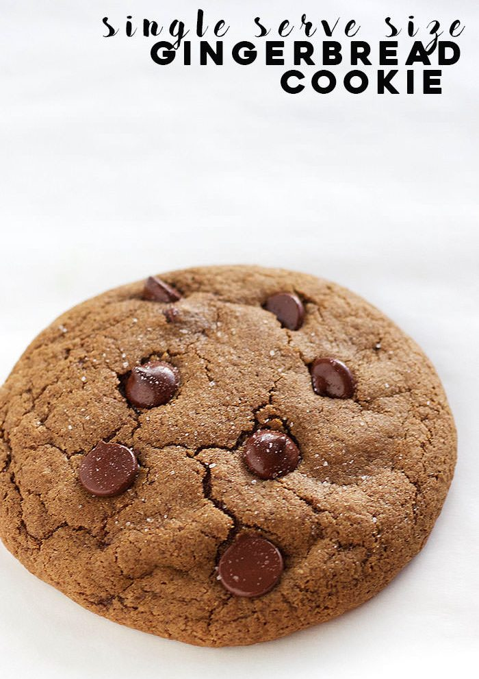 A giant softy, chewy SINGLE SERVE gingerbread cookie. Perfect for those late night cookie cravings!