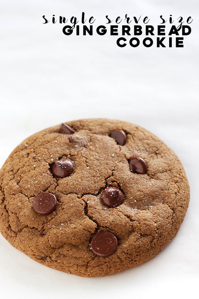 A soft, chewy SINGLE SERVE gingerbread cookie to satisfy your cookie cravings!