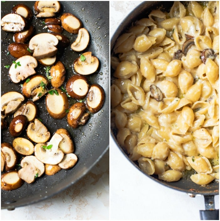 mushroom mac and cheese