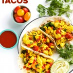 Healthy 8-ingredient TOFU breakfast tacos! | thealmondeater.com