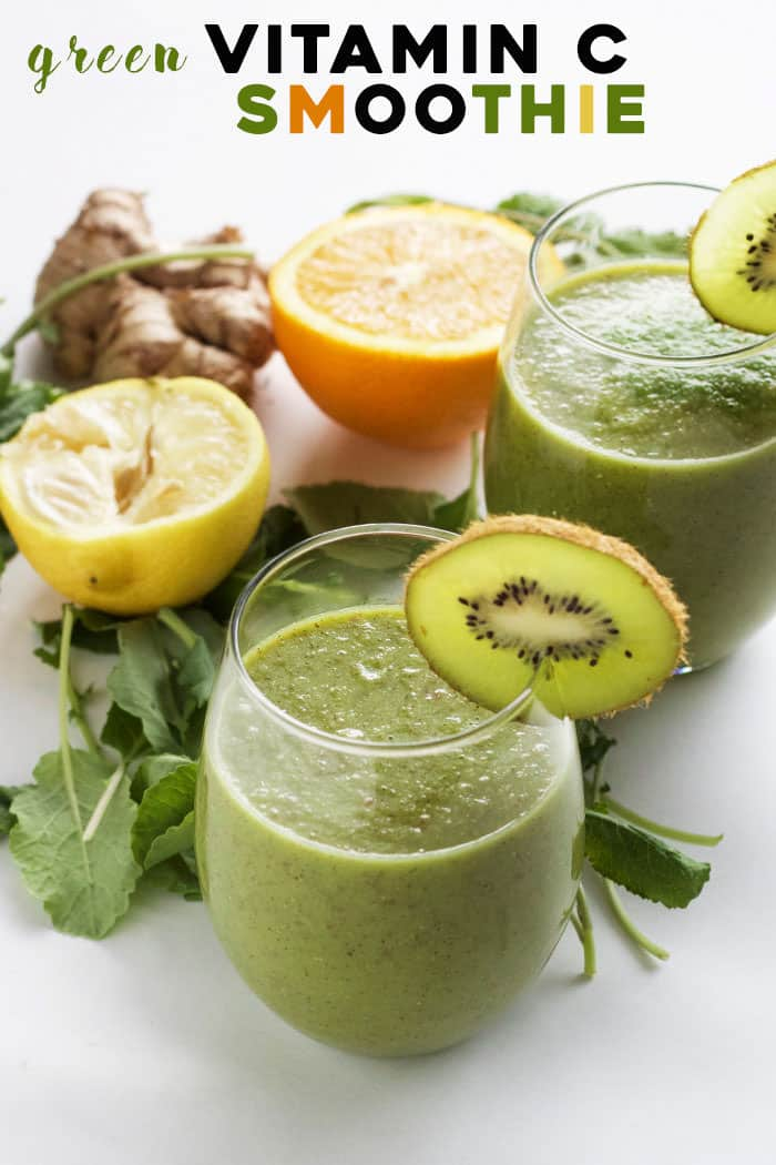 A smoothie PACKED with Vitamin C that tastes good too! The perfect way to start your morning | thealmondeater.com