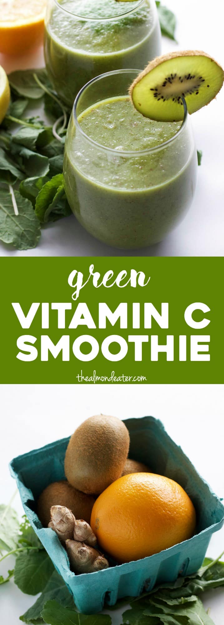 A tasty smoothie PACKED with Vitamin C! The perfect way to start your day | thealmondeater.com