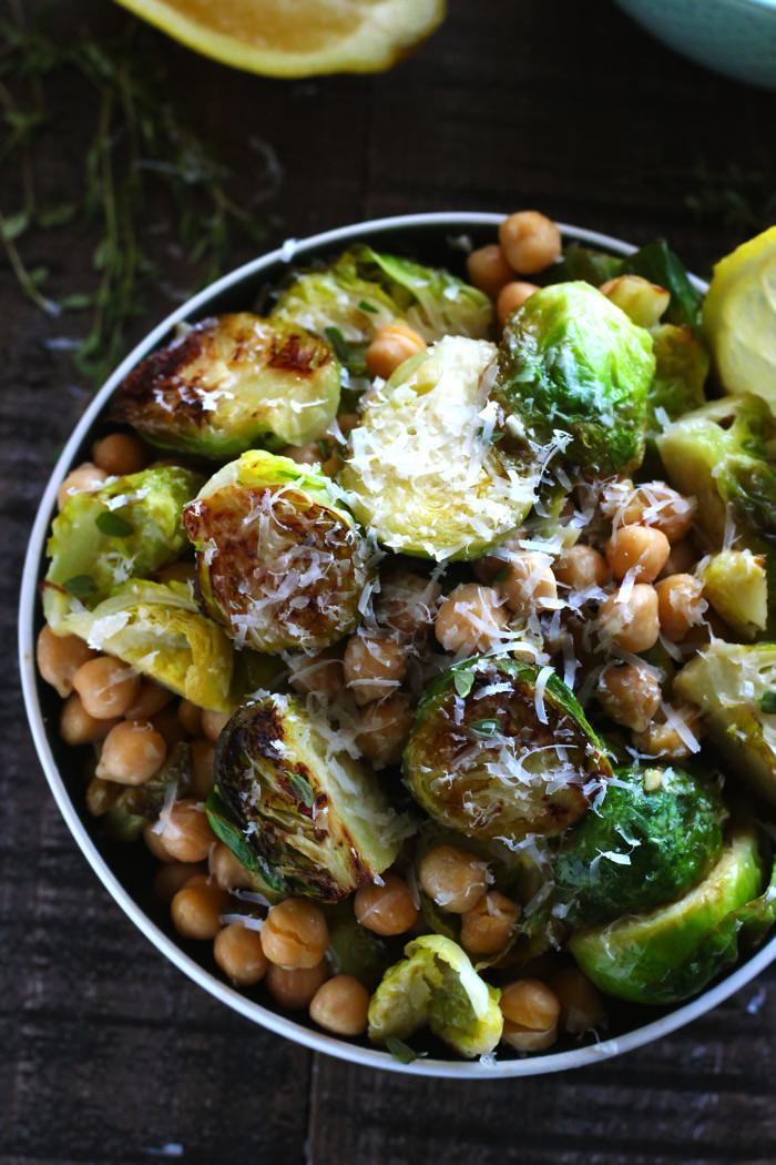Roasted Lemon Garlic Brussels Sprouts 13