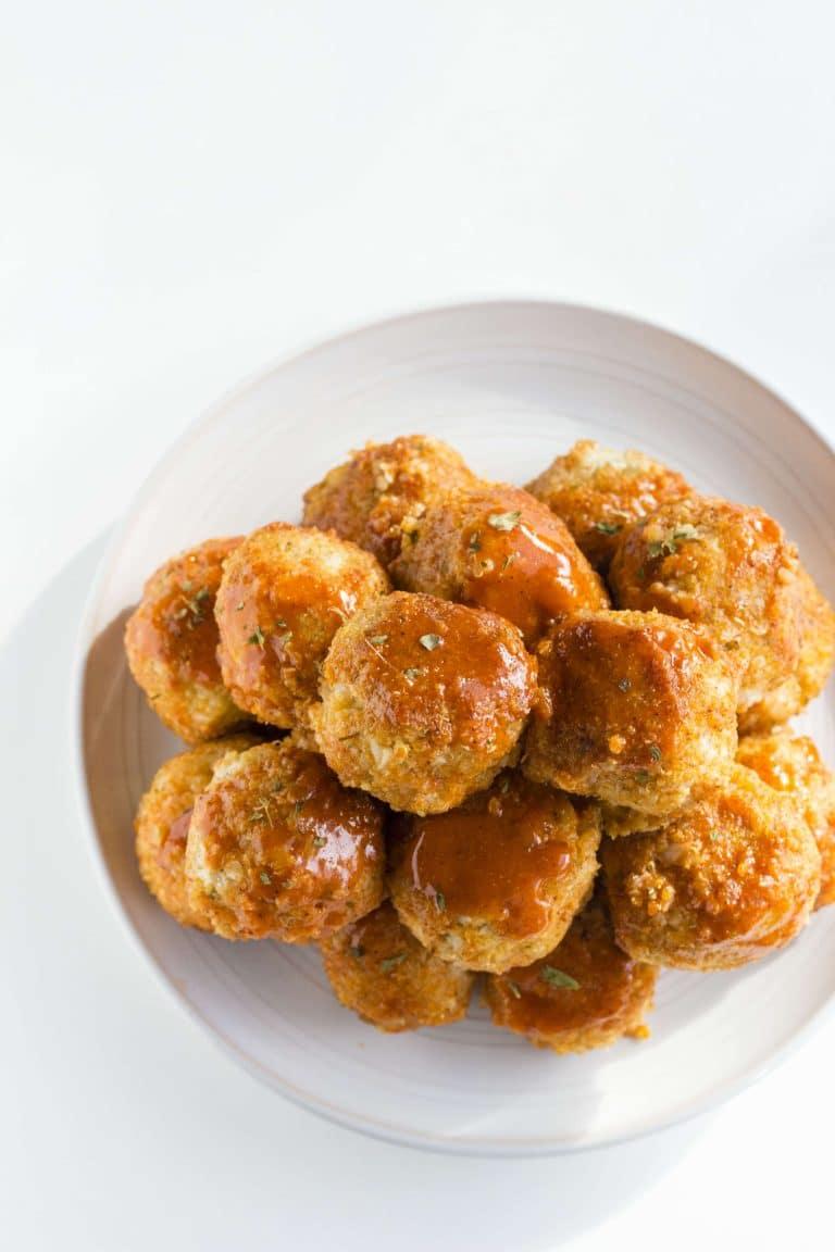Buffalo Cauliflower Quinoa Meatballs | Wholesome Quinoa Recipes