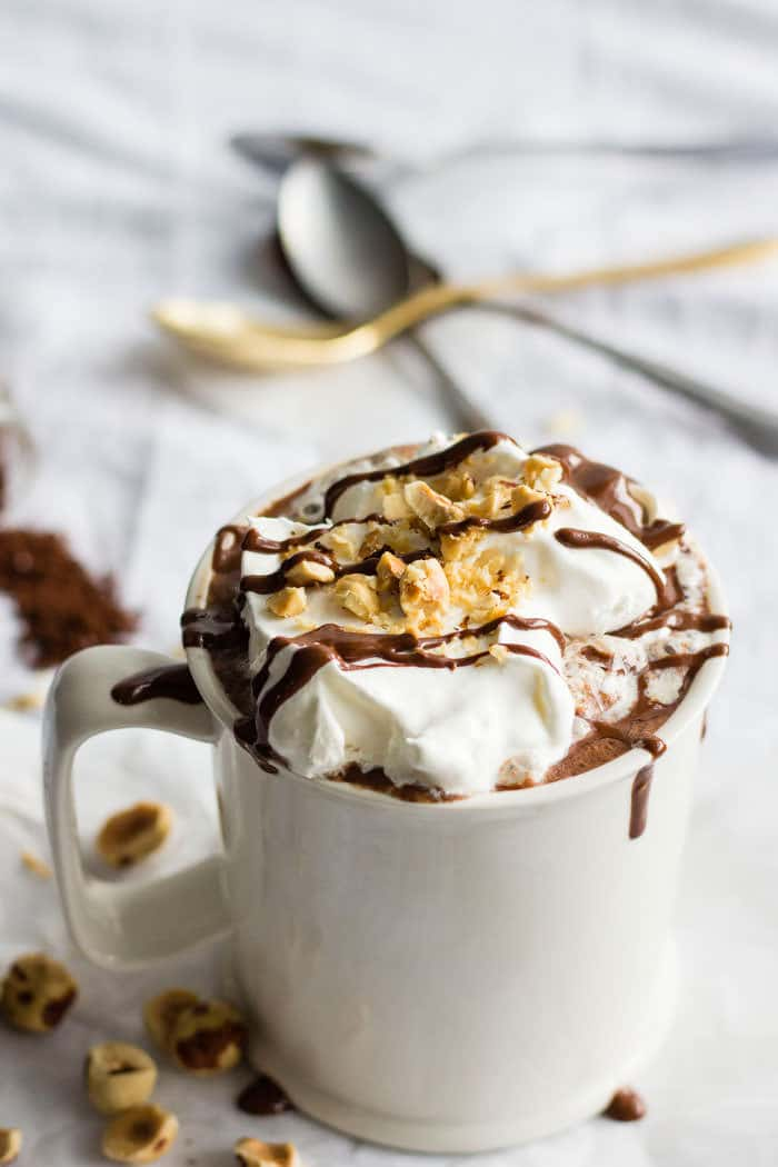 Mocha Nutella Hot Chocolate | Tasty, simple 3-ingredient hot chocolate!
