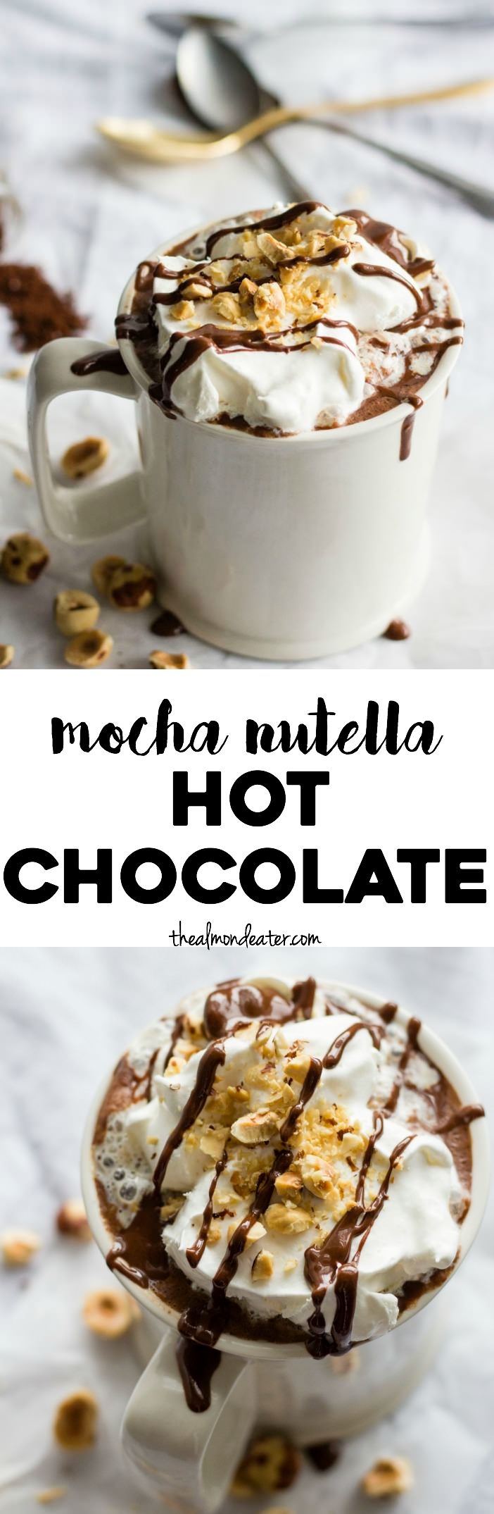 Mocha Nutella Hot Chocolate | The Almond Eater