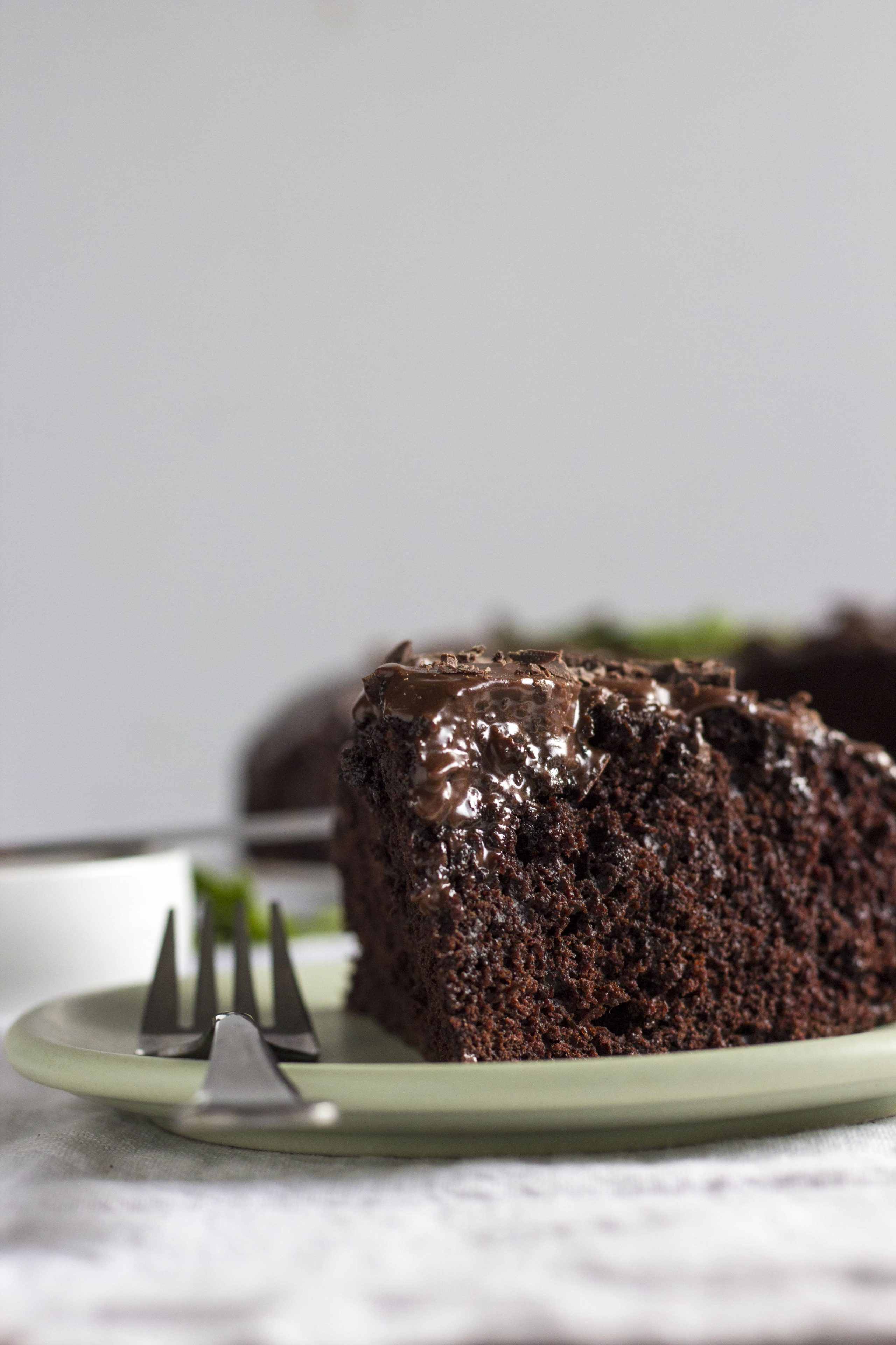 Chocolate Mint Cake | A healthier chocolate cake with a hint of mint that's dairy free, too!