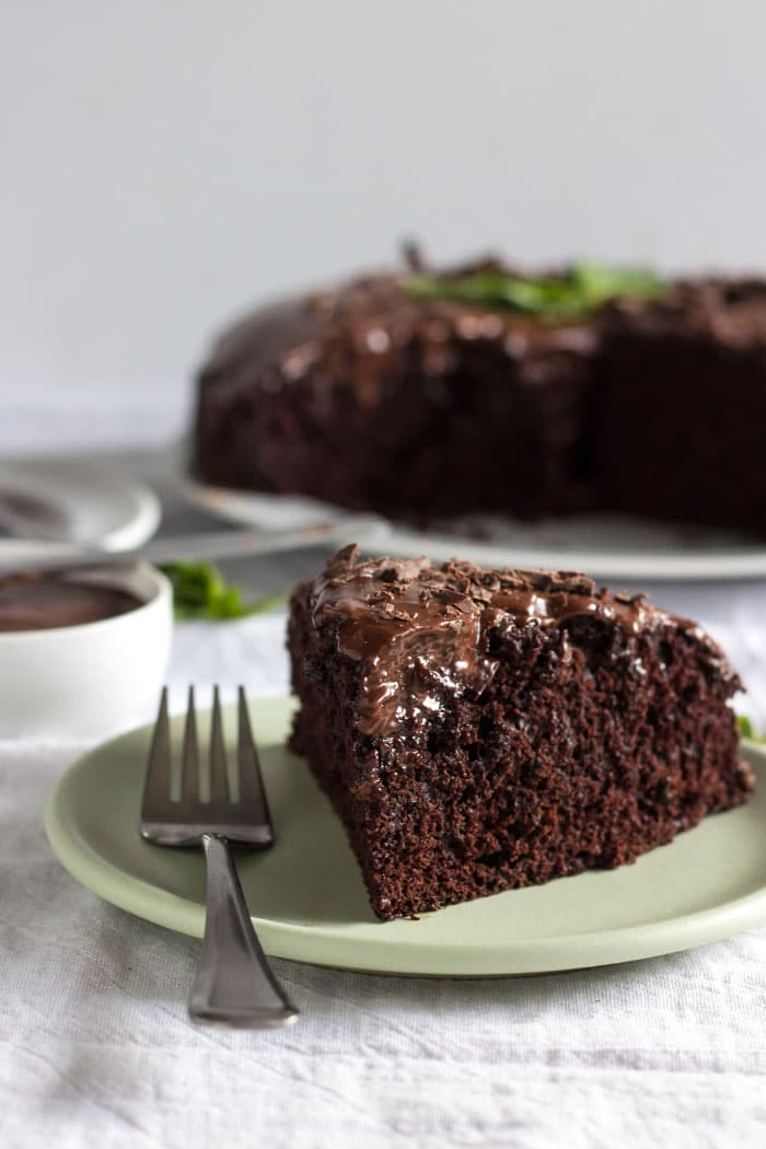 Chocolate Mint Cake | A healthier chocolate cake that's dairy free, too!