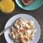 Feta and Tomato Egg Scramble | A simple & healthy breakfast!