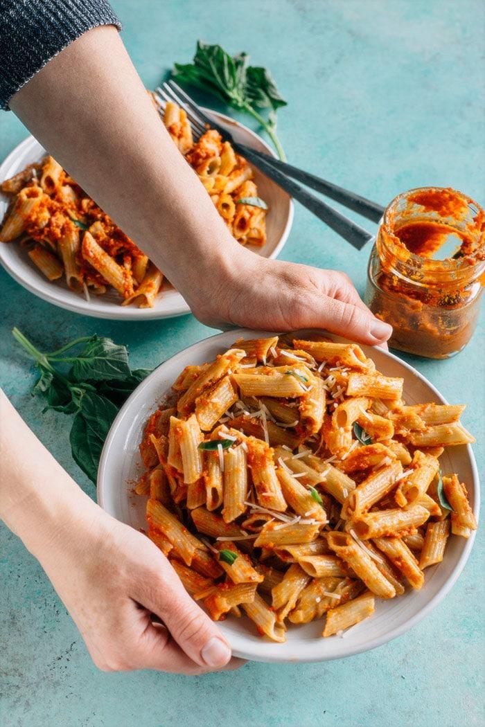 Sun-Dried Tomato Pesto Pasta The Almond Eater