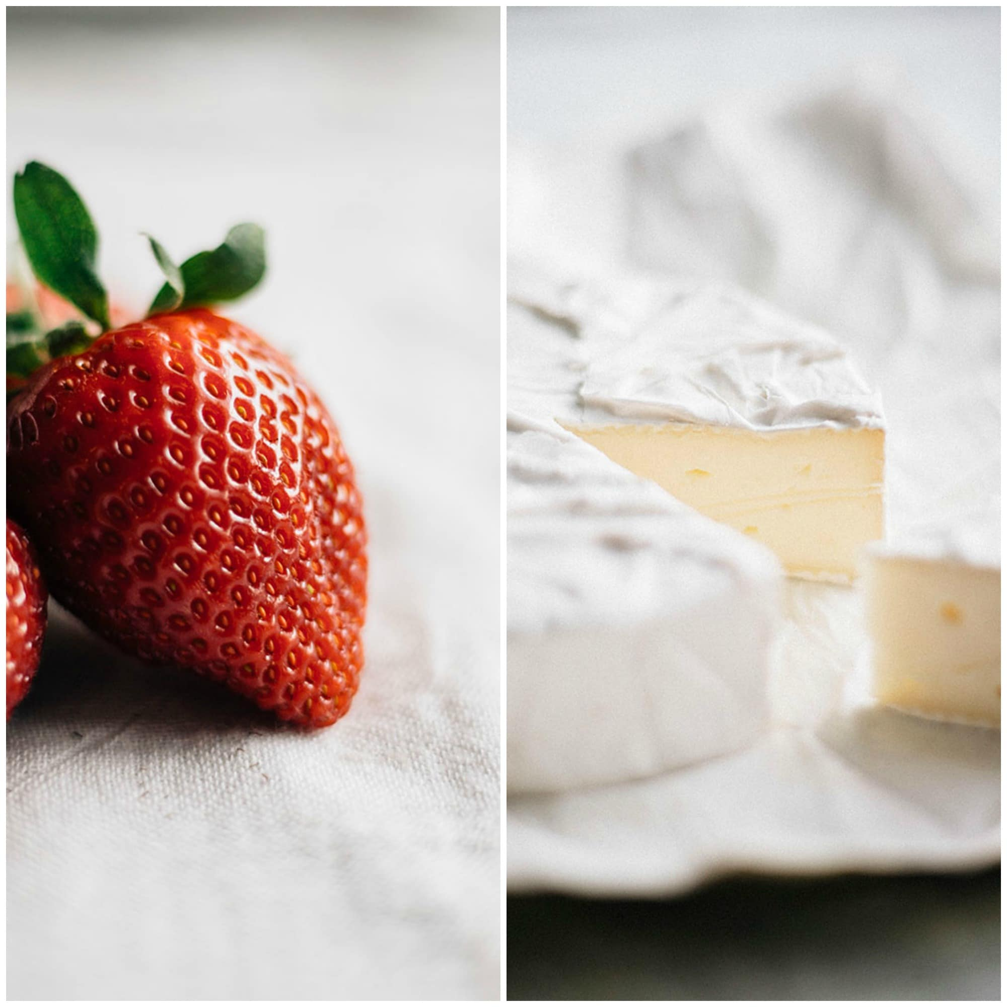 strawberries and brie cheese