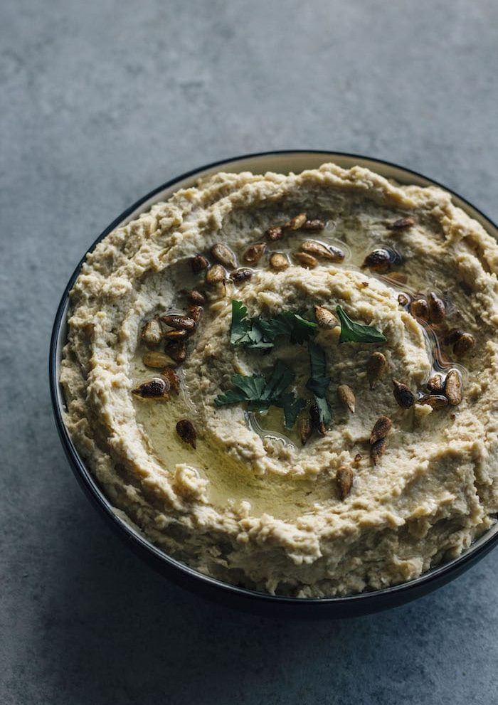 Traditional Hummus   A simple hummus recipe topped with toasted sesame seeds--ready in just 5 minutes!