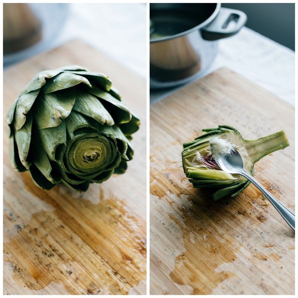 roasted artichokes | thealmondeater.com