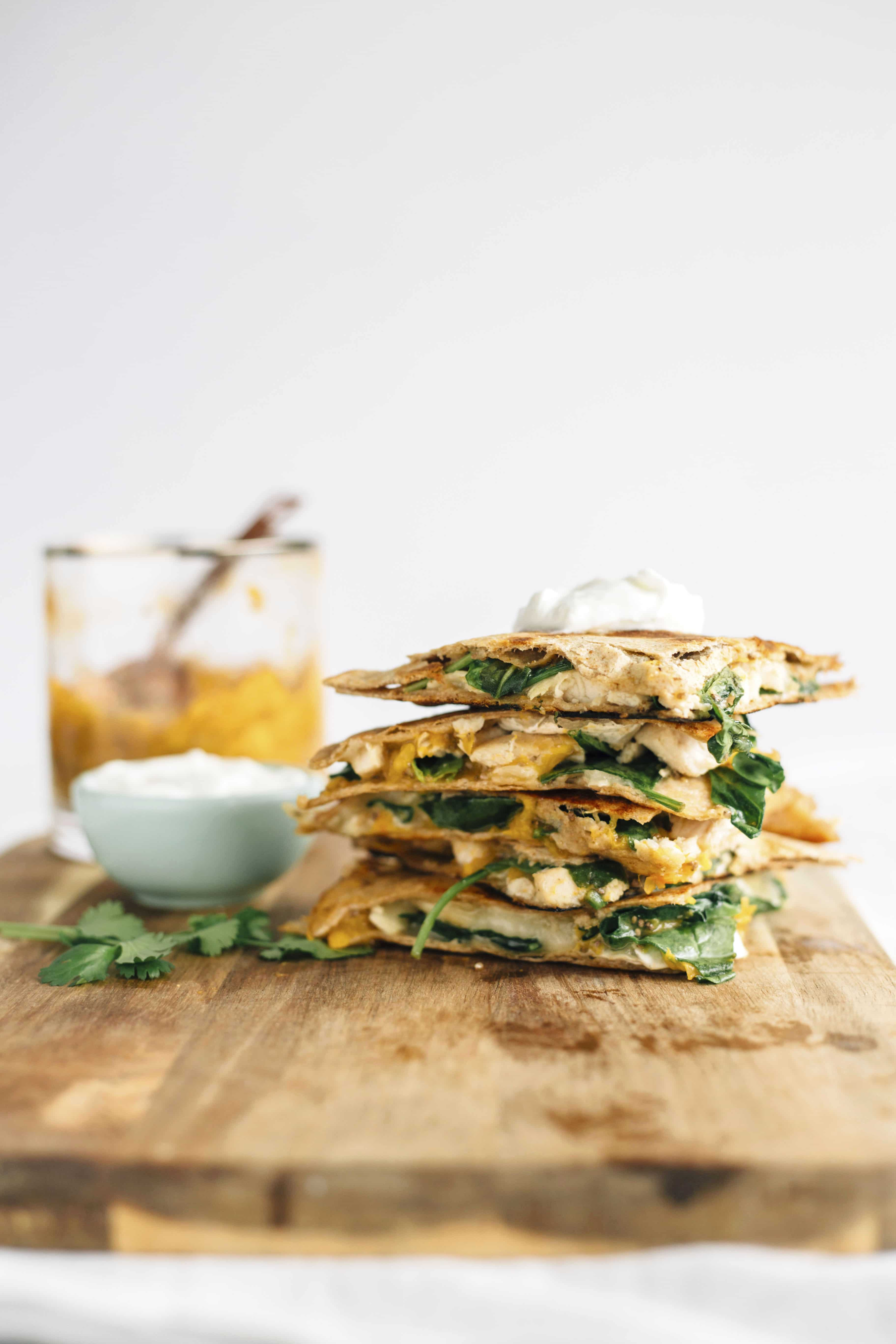 Chicken Quesadilla with Apricot Jam | A tasty quesadilla that's both sweet and salty!
