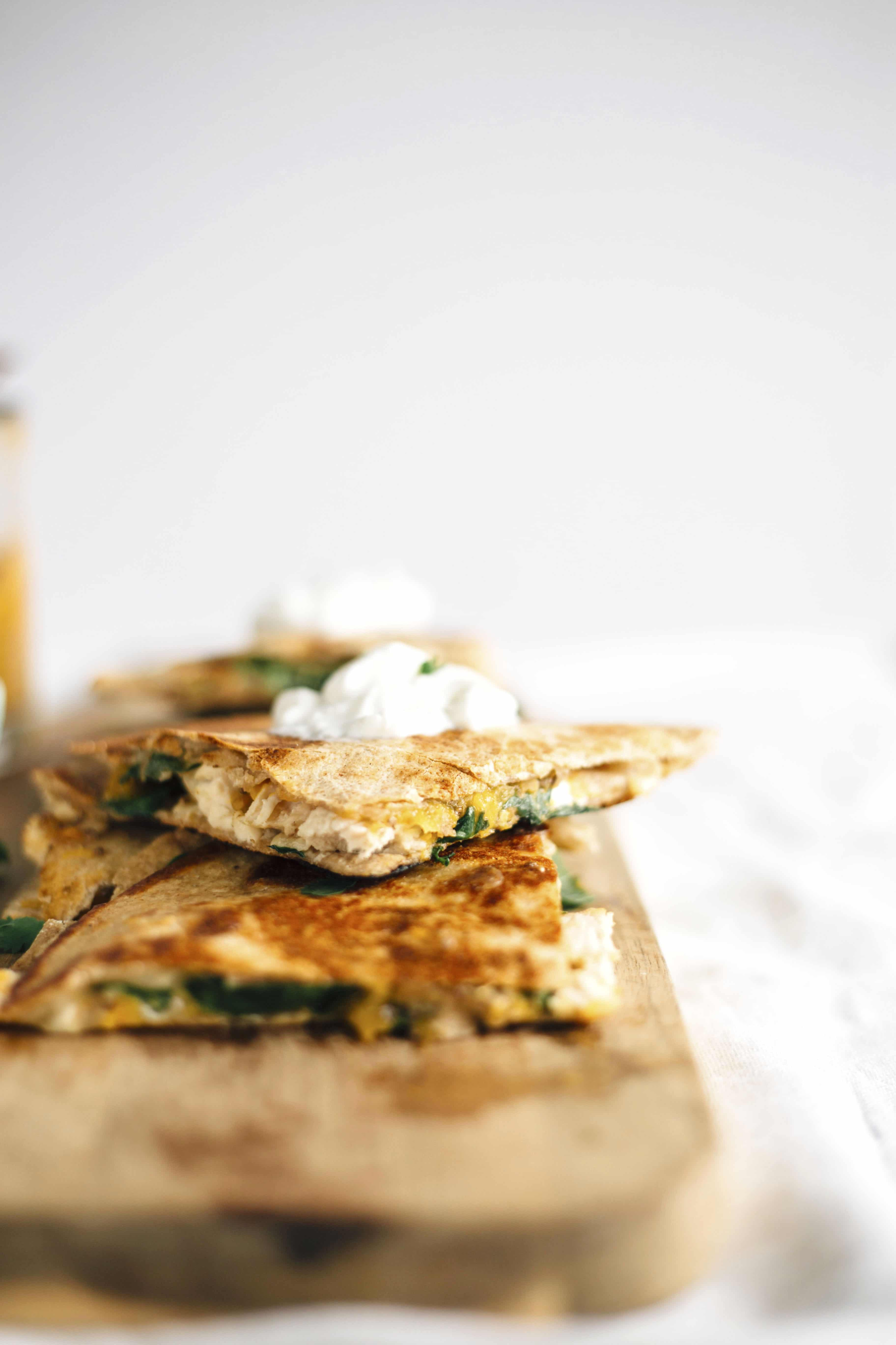 Chicken Quesadilla with Apricot Jam