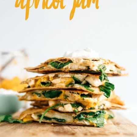 Chicken Quesadilla with Apricot Jam   This recipe is simple but so delicious with the apricot jam