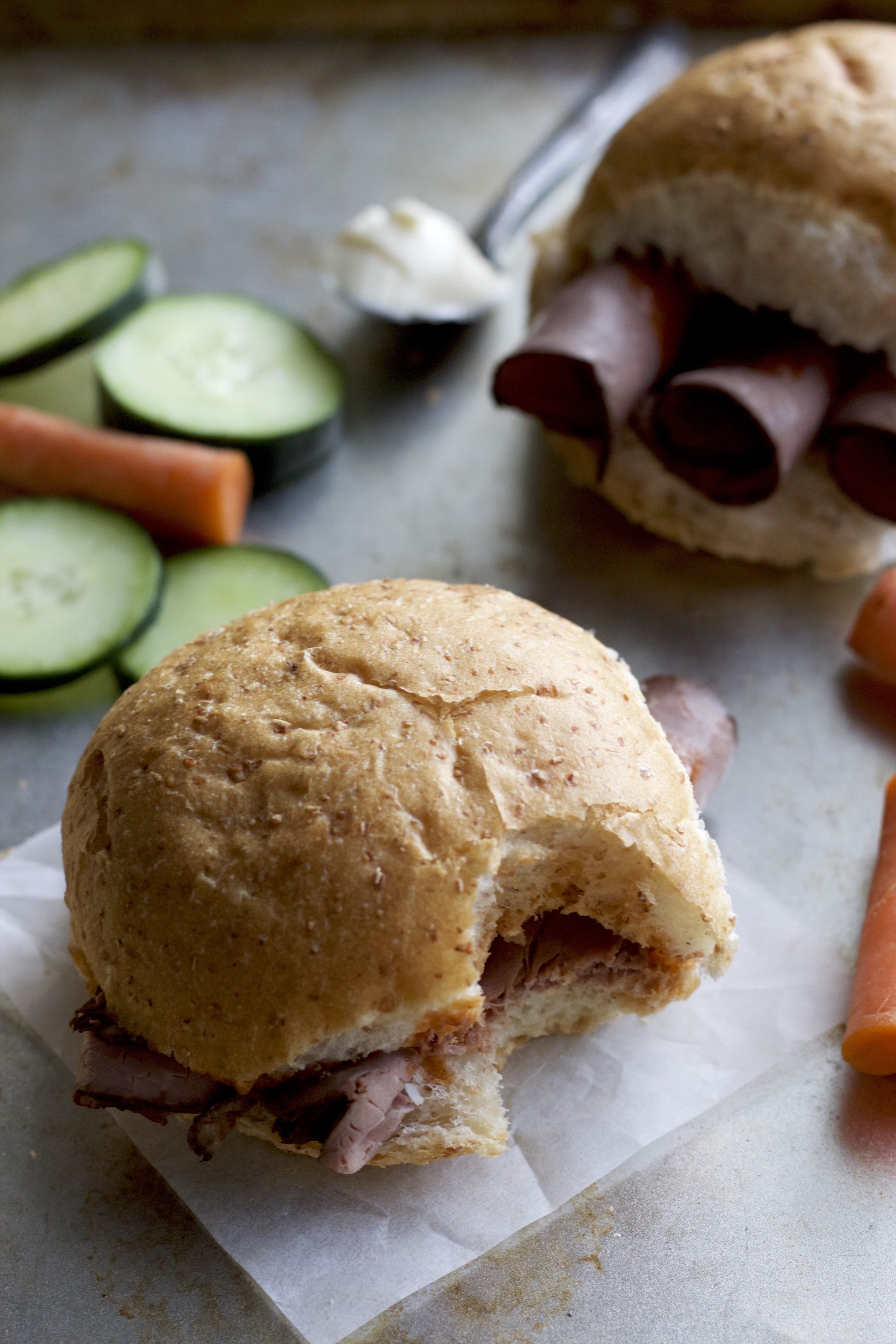 Cold BBQ Beef Sandwiches