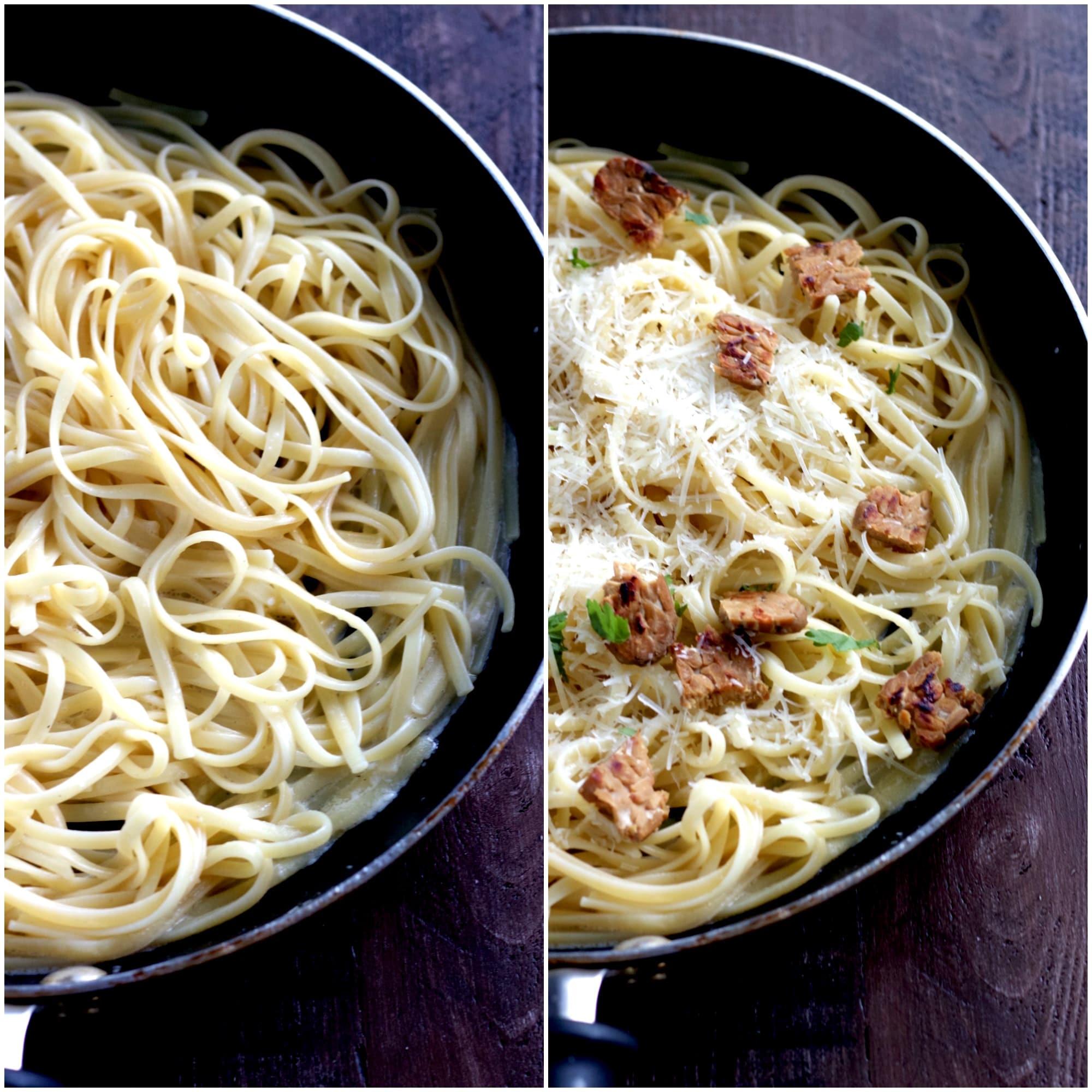 Linguini with Carbonara Sauce 16