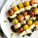 Baked Caprese Kebabs | These kebabs are made in the oven, so a grill isn't necessary!