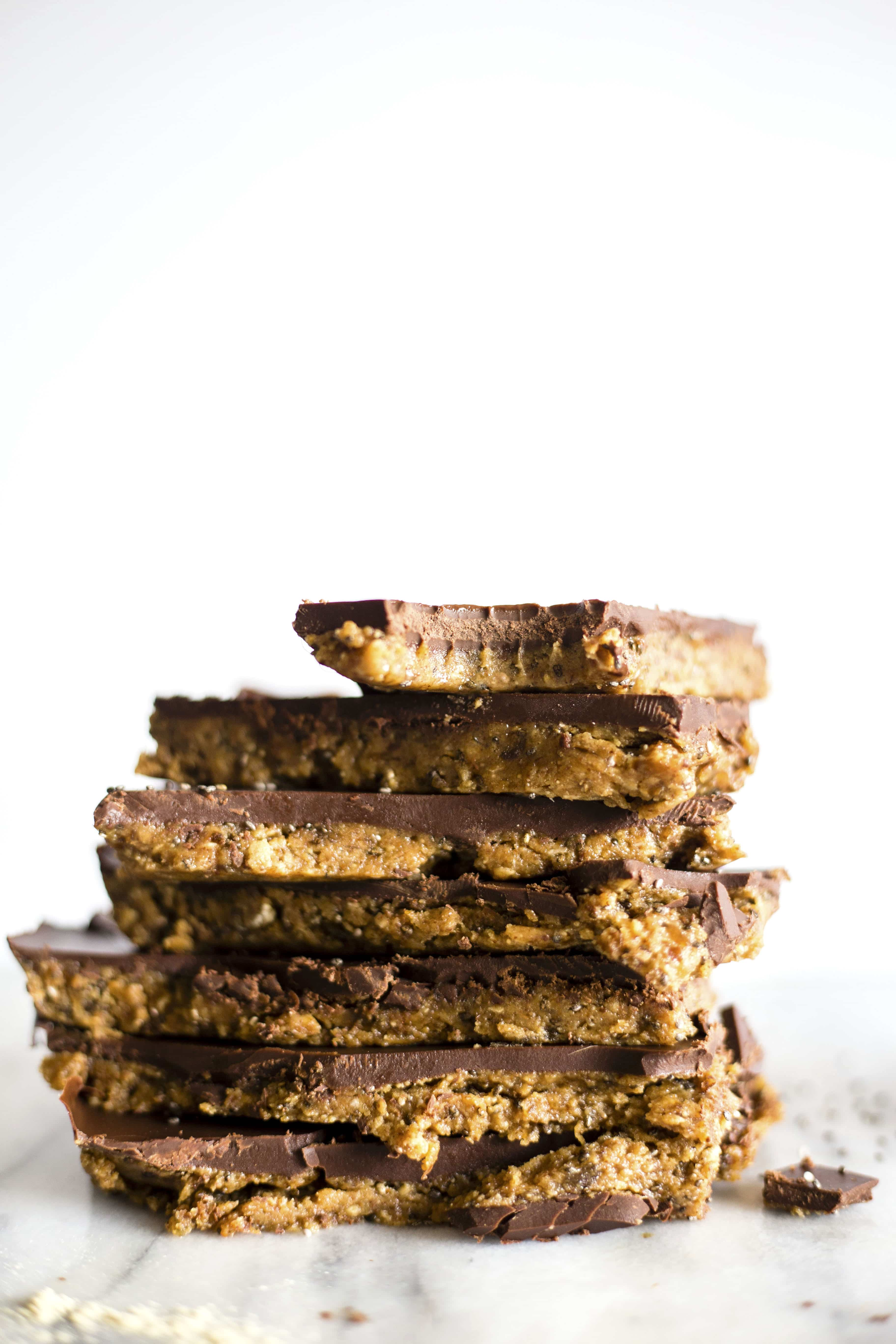 Almond Butter Protein Bars | Tasty, 8 ingredient bars--perfect for a post workout snack