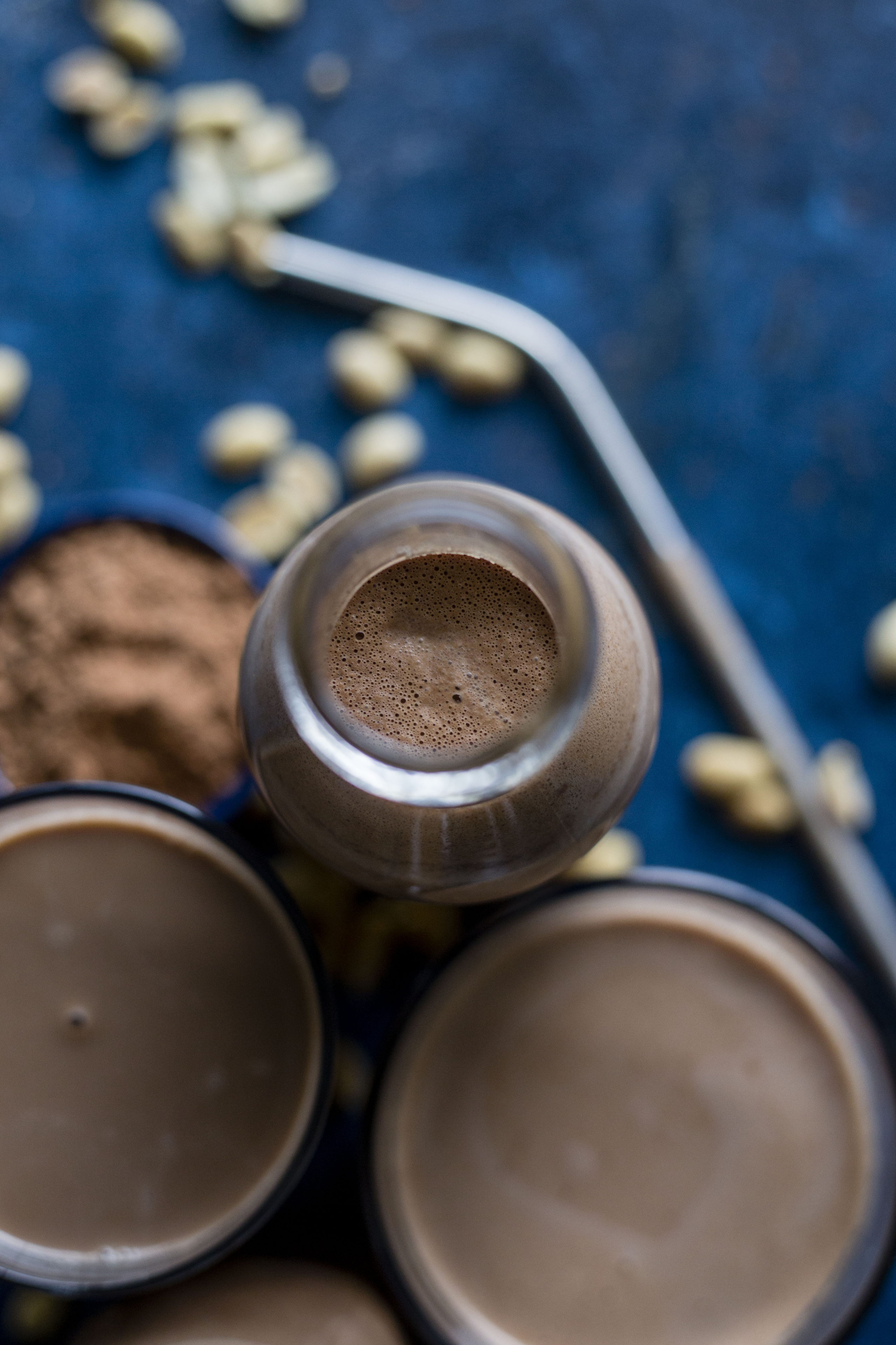 Chocolate Peanut Milk | A tasty dairy free alternative made with peanuts and cacao!