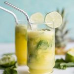 Pineapple Mint Fauxjito   Enjoy a non-alcoholic version of your favorite drink--super refreshing and zero hangover the next day!