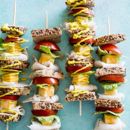 Turkey Sandwich Skewers | A portable and FUN way to enjoy your next sandwich! | thealmondeater.com